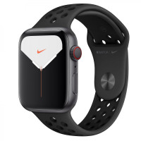 Apple Watch Series 5 GPS + LTE 44mm Space Gray Aluminum w. Anthracite/Black Nike Sport Band (MX3A2/MX3F2)
