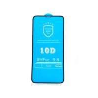 Защитные стекла iPhone X Protective Glass 10D (black)