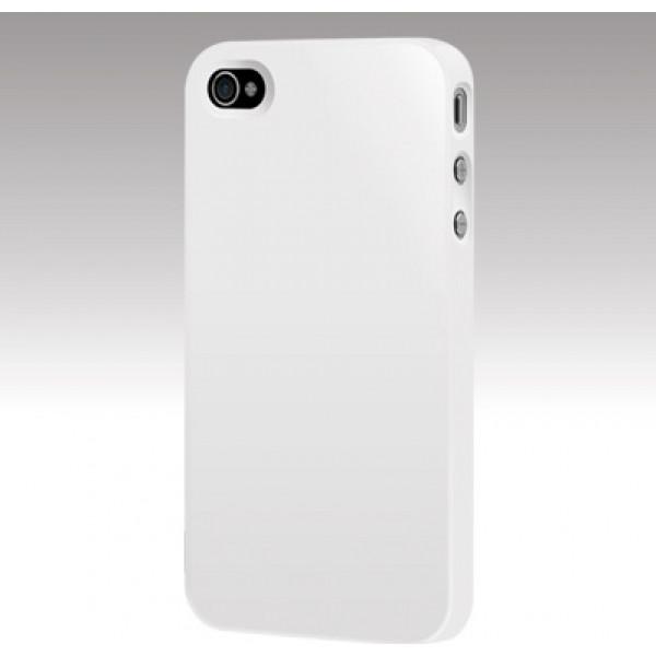 Чехол Накладка для iPhone 4/4S CAPDASE (Белый) (Пластик)