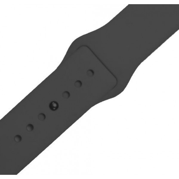 Ремешок-браслет для Apple Watch 42mm Silicone Band (gray)