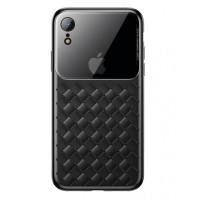 Чехол накладка iPhone Xr  Baseus Weaving Case (black)
