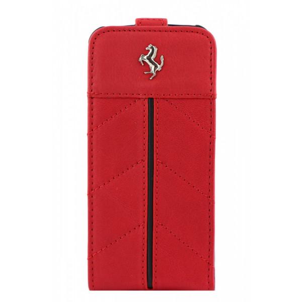 Чехол Флип для iPhone 5/5S FERRARI California (красный) (кожа)