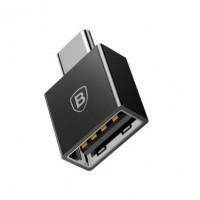 Переходник Baseus Exquisite Type-C to USB 2,4A (black)