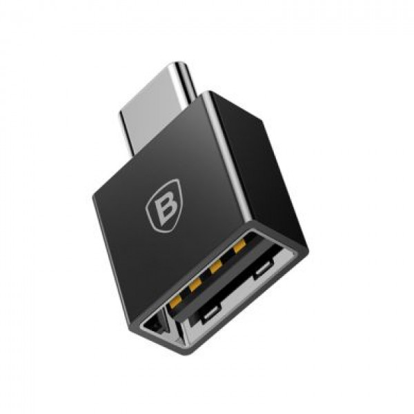 Переходник Baseus Exquisite Type-C to USB 2,4A (black)