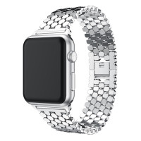 Ремешок-браслет для Apple Watch 38mm/40mm Honeycombs Metall (Silver)