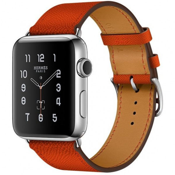Apple Watch Series 2 Hermes 38mm Stainless Steel Case with Fauve Barenia Leather Double Tour (MNQ92)