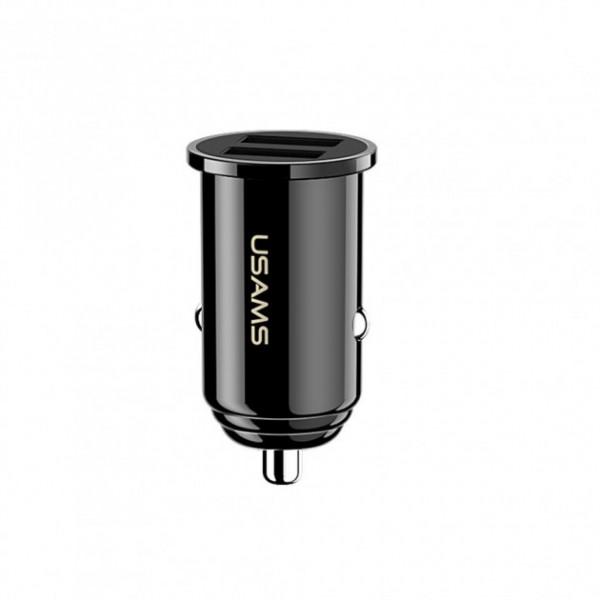 Автомобильное зарядное устройство USAMS C8 3.1A Dual USB Mini (black)