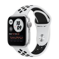 Apple Watch Nike Series 6 GPS 40mm Silver Aluminum Case w. Pure Platinum/Black Nike Sport B. (M00T3)