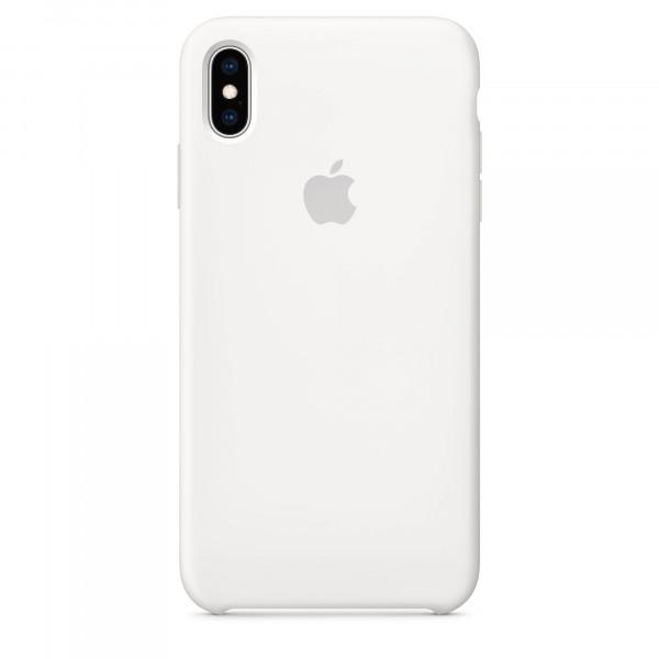 Чехол Накладка для iPhone Xs Max Apple Silicon Case (White ) (Полиулетан)
