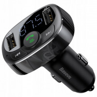 Автомобильное адаптер с FM-трансмиттером Baseus S-09 T-Typed Bluetooth MP3 (Black)