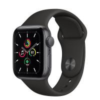 Apple Watch SE GPS 40mm Space Gray Aluminum Case w. Black Sport B. (MYDP2)