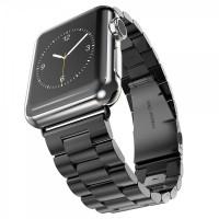 Ремешок-браслет для Apple watch 38mm/40mm Metal Steel Old 3-Bead (Black)