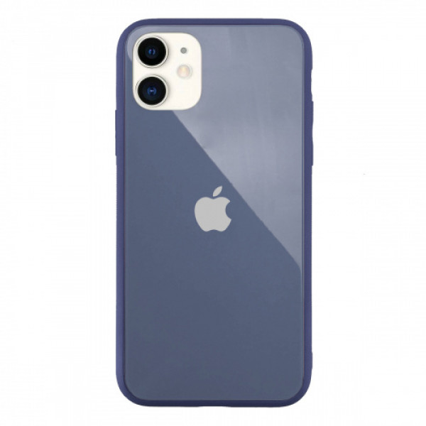Чехол Накладка для iPhone 11 Glass Pastel color Logo (lavander gray )
