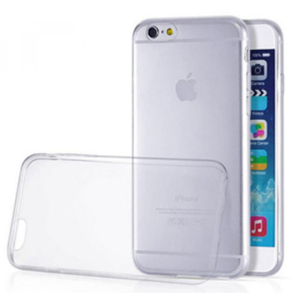 Чехол Накладка для iPhone 6 Plus Slim Case (Прозрачный) (Силикон)