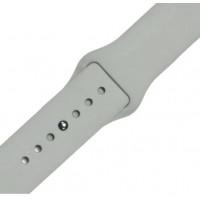 Ремешок-браслет для Apple Watch 38mm Silicone Band (Светло серый)