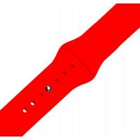 Ремешок-браслет для Apple Watch 38mm Silicone Band (red)