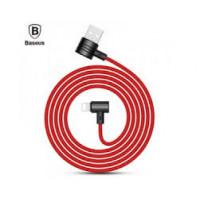 Кабель USB Lightning Baseus T-type Magnet Cable (Side Insert) (Red-Black)