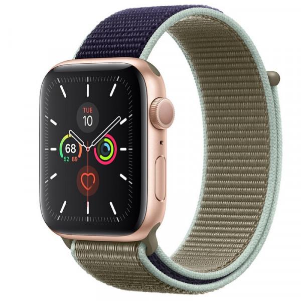 Apple Watch Series 5 GPS 40mm Gold Aluminum with Khaki Sport Loop (MWRY2)