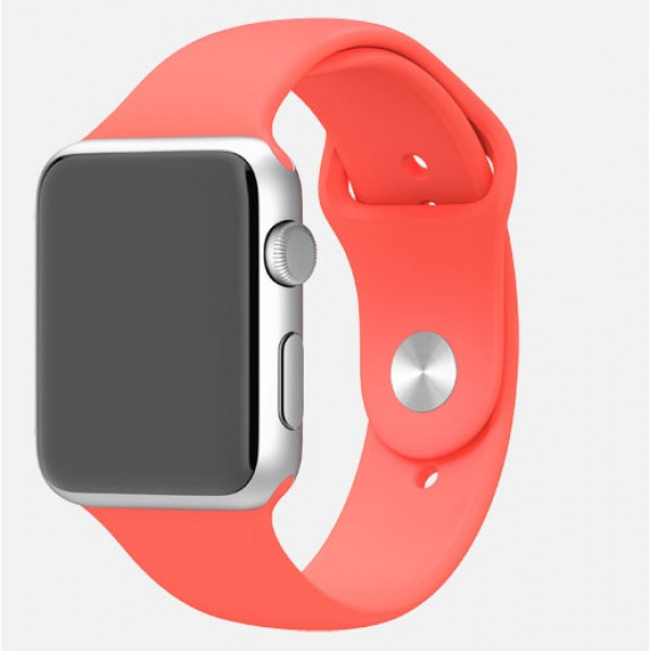 Apple Watch 38mm Silver Aluminum Case with Pink Sport Band (MJ2W2)