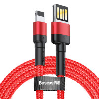 Кабель Baseus Cafule Cable (Special Edition) USB For iP 2.4A 1M Red