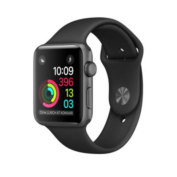 Apple Watch Series 1 38mm Space Gray Aluminum Case with Black Sport Band (MP022)