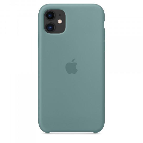 Чехол Накладка для iPhone 11 Apple Silicon Case (Cactus) (Полиулетан)