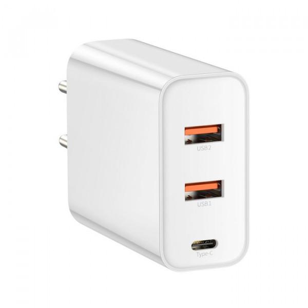 Сетевое зарядное устройство Baseus Speed PPS Quick Charger PDout/USB/30W/5A/QC/PD White