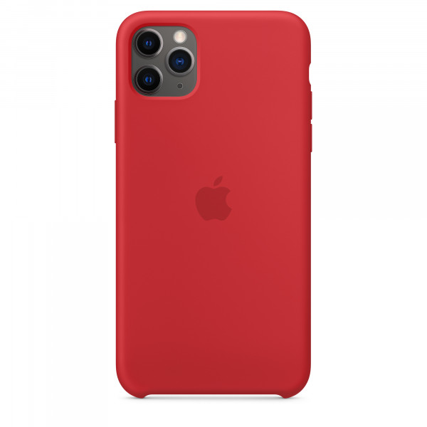 Чехол Накладка для iPhone 11 Pro Max Apple Silicon Case (Red) (Полиулетан)