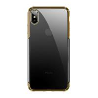Чехол накладка iPhone Xs Max Baseus Shining Case (gold)