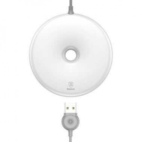 Безпроводное зарядное устройство Baseus Q Donut Desktop Wireless Charger (White)