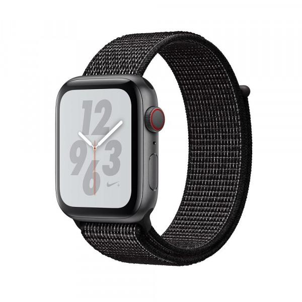 Apple Watch Nike+ Series 4 GPS + LTE 44mm Gray Alum. w. Black Nike Sport l. Gray Alum. (MTXD2)