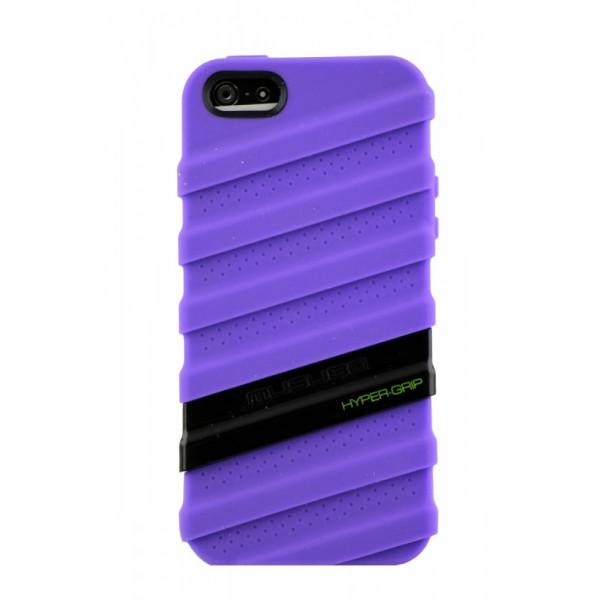 Чехол Накладка для iPhone  5/5S MUSUBO HYPER-GRIP MYMMY (Фиолетовый) (Силикон)