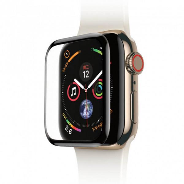 Защитное Стекло  3D Full Fiber Apple watch 44mm (black)