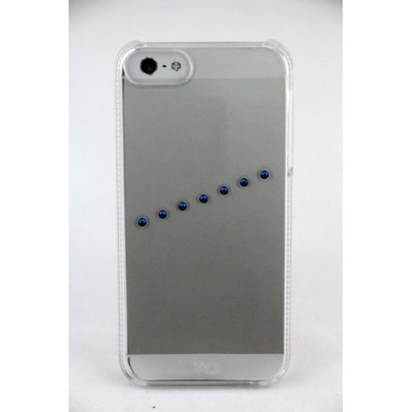 Чехол Накладка для iPhone 5/5S WD Sash Ice B SWAROVSKI ELEMENT(Прозрачный) (Пластик)