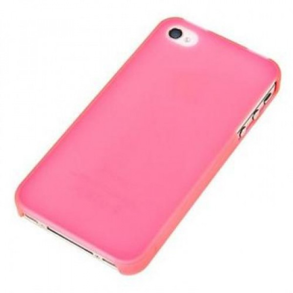 Чехол Накладка для iPhone 4/4S Moshi iGlaze (Розовый) (Пластик)