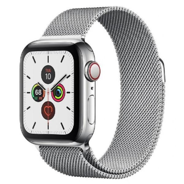 Apple Watch Series 5 LTE 40mm Steel w. Steel Milanese Loop - Steel (MWWT2, MWX52)