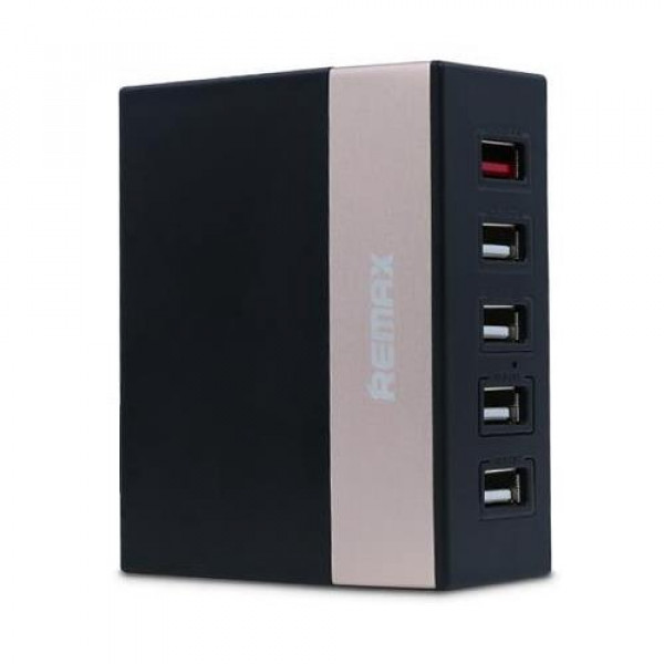 Сетевое зарядное устройство REMAX  RU-U1 5 USB(Черный)
