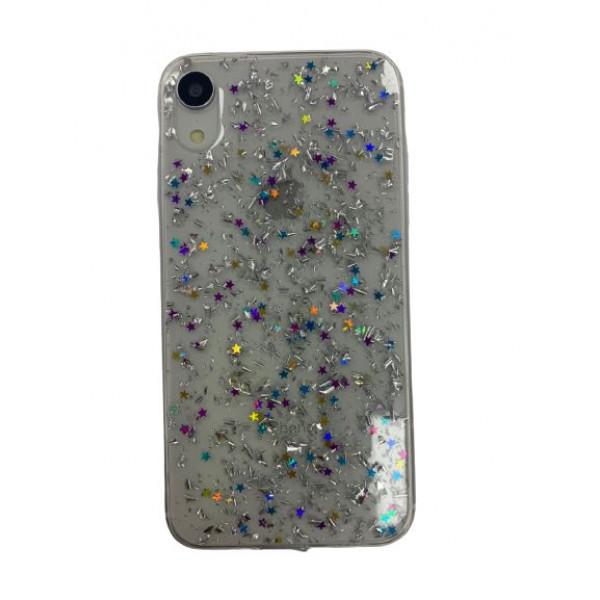 Чехол накладка iPhone Xr  Magic Brilliance (silver)
