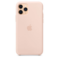 Чехол Накладка для iPhone 11 Pro Apple Silicon Case (Pink Sand) (Полиулетан)