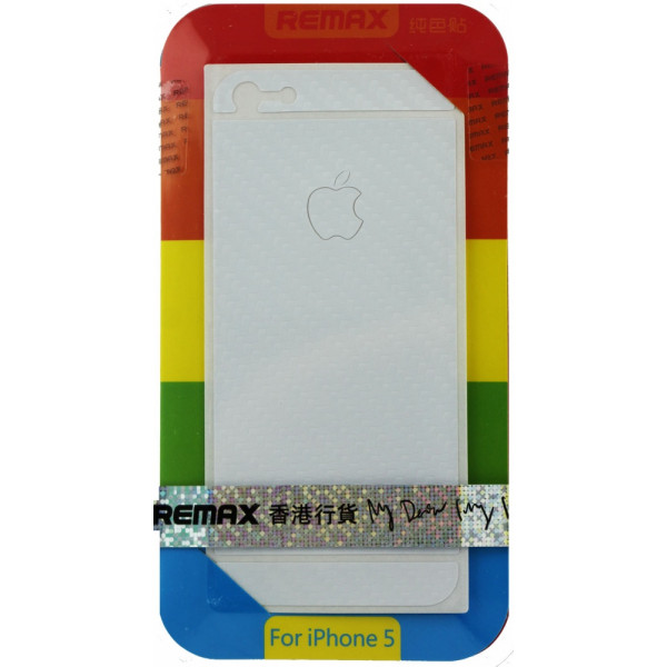 Защитная Пленка для iPhone 5/5S  REMAX CARBON (Белый)