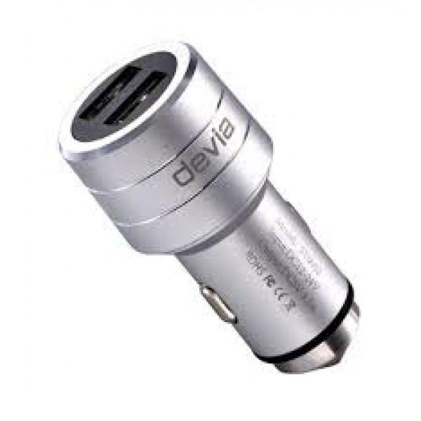 Автомобильное зарядное устройство Devia Joy USB Port Charger 3.1A (Серебристый)