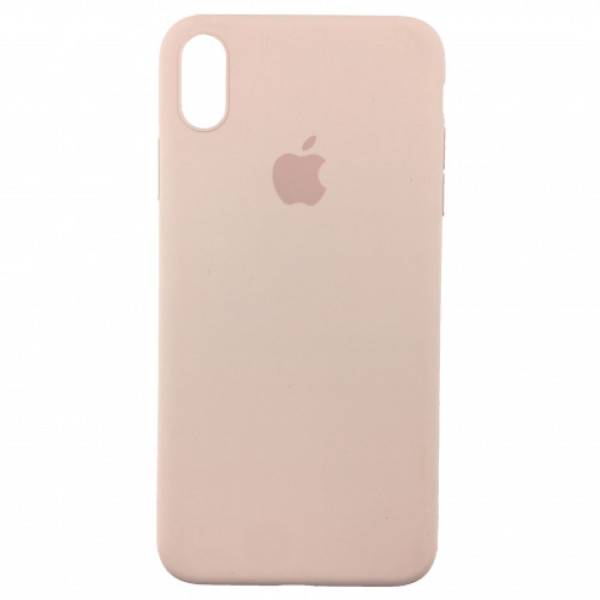 Чехол Накладка для iPhone Xs Max Apple Silicon Slim Case (Pink Sand) (Полиулетан)