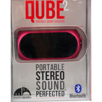 Акустика QUBE2 Portable Stereo Sound Perfected (Bluetooth) (малиновый)