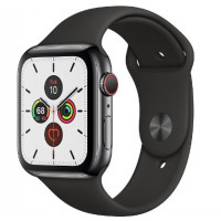 Apple Watch Series 5 LTE 44mm Space Black Steel w. Black b.- Space Black Steel (MWW72, MWWK2)