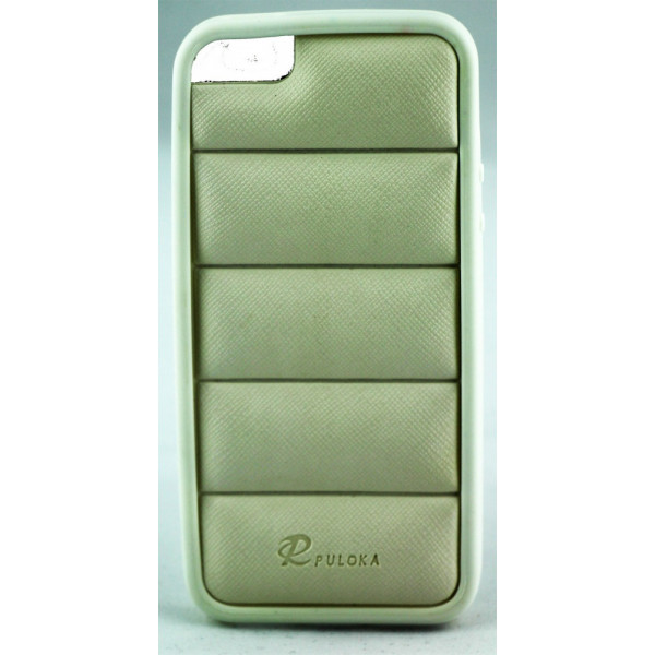 Чехол Накладка для iPhone  5/5S PULOKA (Белый) (Силикон)