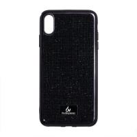 Чехол накладка iPhone XS Max The Bling World LCPC Silver+TPU Case (black)