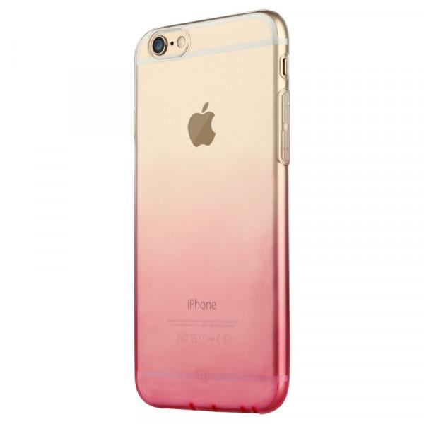 Чехол Накладка для iPhone 6 FSHANG Rosy Shadow (Золотой) (Силикон)