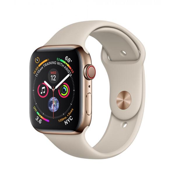 Apple Watch Series 4 GPS + LTE 44mm Gold Steel w. Stone Sport b. Gold Steel (MTV72)