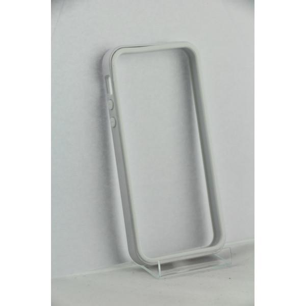 Бампер для iPhone 4/4S (Белый) (Пластик)