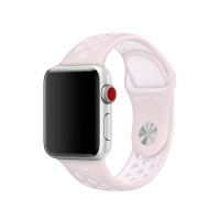Ремешок-браслет для Apple Watch 38mm/40mm Silicone Nike Sport Band (Barely Rose-Pearl Pink)